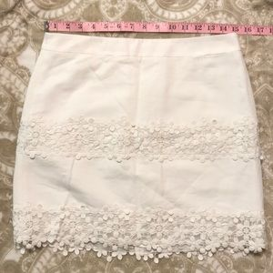 NWT J. Crew Factory white lace mini skirt
